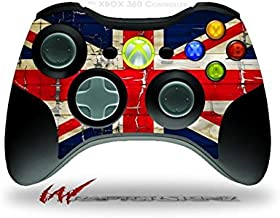 XBOX 360 Wireless Controller Decal Style Skin - Painted Faded and Cracked Union Jack British Flag (CONTROLLER NOT INCLUDED)