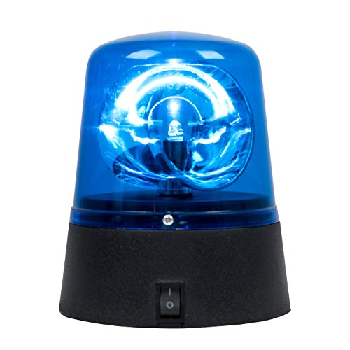 MiniSun – Neuartige batteriebetriebene Polizeileuchte mit rotierendem und blinkendem blauem LED-Licht – Partylicht