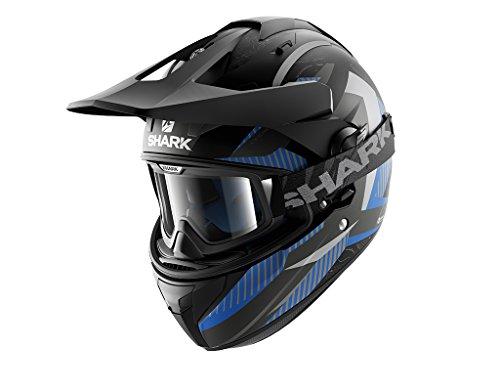 Shark Explore-R Peka - Casco de motocross (talla XS), color negro y azul