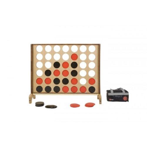 Hardhout Superluxe Mega 4 op een Rij spel - 115x82cm