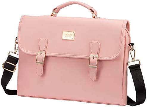 Laptop Bag for Women Leather Laptop Case Cute Computer Bag Sleeve for School Work 15 6 Inch product image