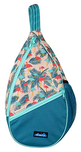 KAVU Paxton Pack Rope Sling Crossbody Bag - Flamingo Fest