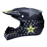 WAHA Helm Drop Motocross Helm für Motocross, Motorradhandschuhe, Mountainbike-Helm, geeignet für...