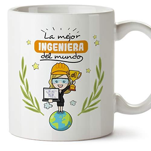 MUGFFINS Taza Ingeniera (Mejor del Mundo) - Regalos Originales y Divertidos de Ingeniería