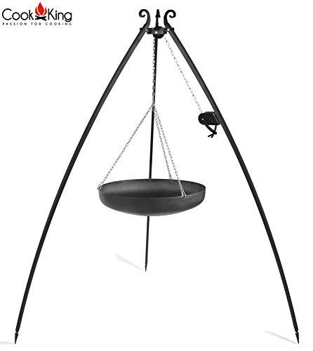 Cook King Wok Grill Schwenkgrill auf dem 200 cm Dreibein mit Kurbel 70 cm ***NEU***