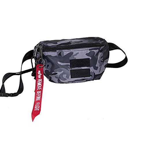 Springer Eastpak x Alpha - Riñonera, diseño de camuflaje, color negro
