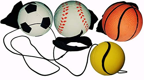 KSS 4 x Ball an der Schnur Springball Hüpfball Kindergeburtstag Mitbringsel Mitgebsel