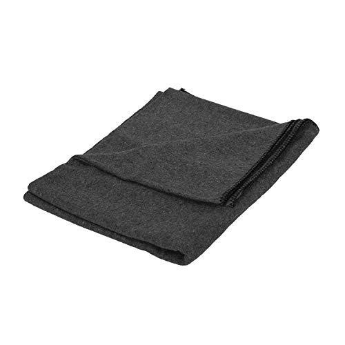Stansport 1243 Wool Blanket, Gray, 60 x 80-Inch