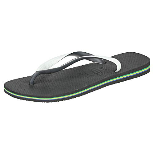 Havaianas Brasil Mix, Infradito Unisex Adulto, Multicolore (Black/White), 41/42 EU