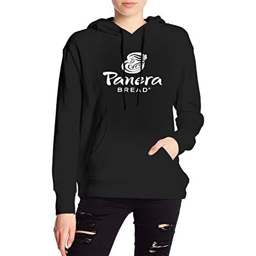 EVE JOHN New Hoodies Panera Bread Symbol Sweatshirts Classic Hood for Women's Black M