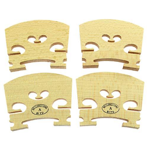 Longdex Violin Bridge 4PCS 4/4 Full Size Violin Bridge Maple High Qualit Violin Parts