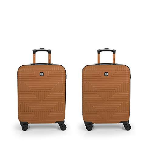 Gabol Shock   Rigid Travel Suitcase Set Orange with 2 Cabin Suitcases