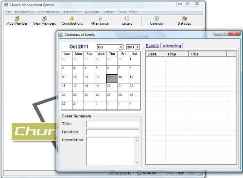 Church Management Software Professional System; Church Facilities, Office, Bookkeeping and Finances Administration Software; Win Only CD-ROM; Multiuser License (100,000 Members) - 5 User Licenses