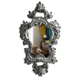 XIAOYUE Espejo de Pared Decorativos Espejo Europeo, Espejo Maquillaje Tocador Dorado Vintage Victoriano, para Dormitorio, Sala de Estar, baño, Pasillo