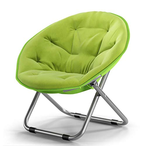 ZZFF Oxford Large Saucer Chair,Folding Chair with Metal Frame Soft Moon Chair Leisure Chair for Kids Adult Lounging Dorms Floor Chair Green 52x51x76cm(20x20x30inch)