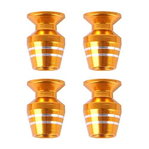 Bandenventieldoppen universeel wijnglas vorm bandenklepjes auto decoratie accessoires, geschikt voor auto motor fiets (4 stuks) Goud