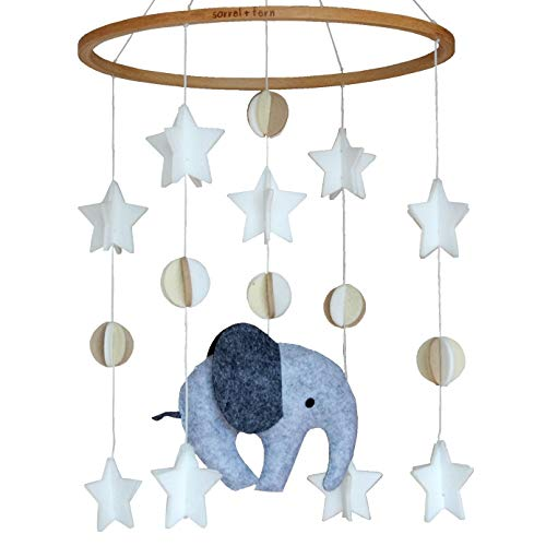 Sorrel + Fern Baby Crib Mobile Scandinavian Elephant -Baby Shower Gift Nursery...