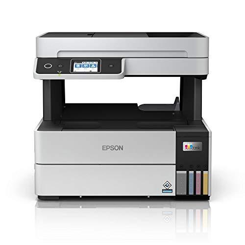 Epson EcoTank ET-5170 4-in-1 Tinten-Multifunktionsgerät (Kopierer, Scanner, Drucker, Fax, A4, ADF, Duplex, WiFi, Ethernet, Display, USB 2.0), großer Tintentank, hohe Reichweite, niedrige Seitenkosten