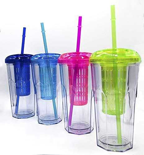 ML Pack 2 Vasos de Batidos infusiones de plástico sin BPA con...
