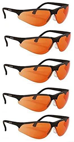Terminator UV-400 - Gafas de Seguridad para luz Azul y protección UV, Color Naranja