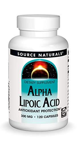 naturals alpha lipoic acids Source Naturals Alpha Lipoic Acid 300 mg Supports Healthy Sugar Metabolism, Liver Function & Energy Generation - 120 Capsules