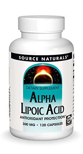 Source Naturals Alpha Lipoic Acid 300 mg Supports Healthy Sugar Metabolism, Liver Function & Energy Generation - 120 Capsules