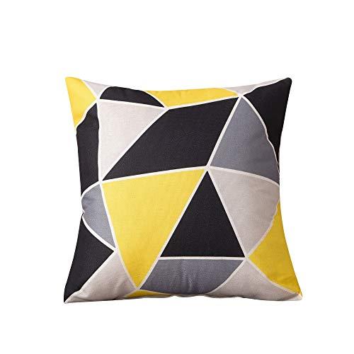Auto Taillenkissen Kissen Stuhl Stuhllehne, Ai Wei gelb schwarz Geometrie (4 Stück)