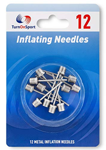 Basketball Pump Needle - Ball Pump Inflation Needles Pack 12 - Inflate Pump Needle for Balls - Pump Needle Adaptor Soccer Rugby Football Volleyball Ball - Inflatable Air Pump Needle (12 Needle)