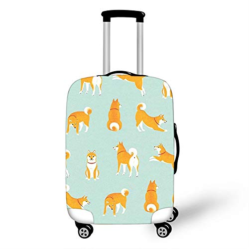 Elastic Luggage Cover, CNNINHAO 3D Print Trolley Case Protective Travel Suitcase Anti Scratch Dustproof Resistant Case Trolley Skin Protector Elasticized Washable (Dog,M (22-24inch))