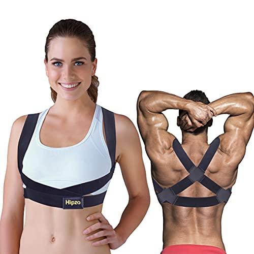 Hipzo Corrector De Espalda, Invisible Transpirable Ajustable CorrectorPosturaEspalda para Hombres Mujeres, Mejora la Postura, Cambia el Temperamento, Alivia los Dolores de Espalda, Hombros y Cuello