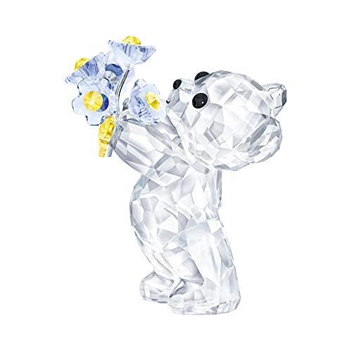 Swarovski Kris Bear Figurine  Stunning Swarovski Crystal  Forget-Me-Not  Animal Collectible