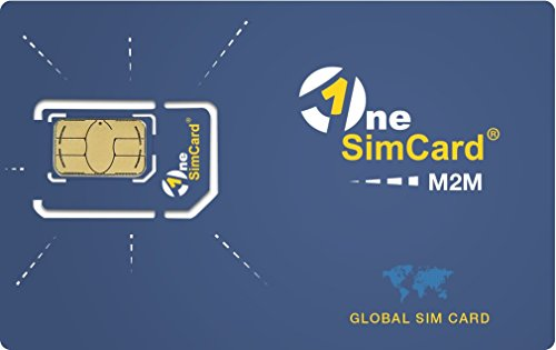 OneSimCard M2M Global IoT SIM Card Starter Kit (5 SIMs) with 500 KB Test Data Included, M2M Service in 160+Countries - Data & SMS, Private APN, VPN & Static IP Addresses Available
