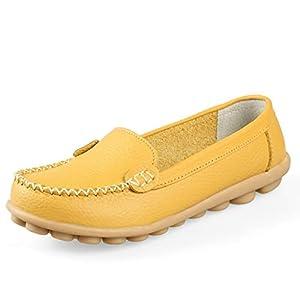 manantial レディース シューズ 靴 くつ モカシン 革靴 本革 革 靴シューズ 可愛い かわいい ローファー フラットシューズ フォーマル ビジネス 無地 シンプル 人気 お洒落 おしゃれ amazon 女 女性 ファッション イエロー 黄色 黄 22 22.5 23 23.5 24 24.5 25 25.5 26 26.5 27 27.5 28 28.5 29 29.5 30 疲れにくい靴 撥水 (イエロー 23.0cm)