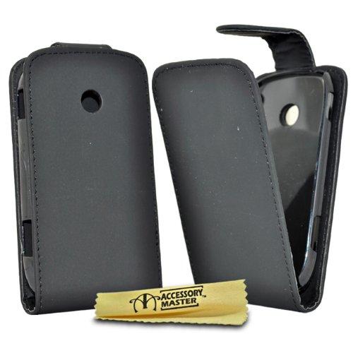 Accessory Master - Custodia in Pelle per Samsung Galaxy Young S6010, Colore: Nero