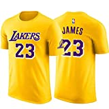 FANS LOVE Camiseta NBA Los Angeles Lakers James # 23 Jersey Uniforme De Baloncesto Camisetas De Manga Corta Pareja Media Manga Tops Yellow-L