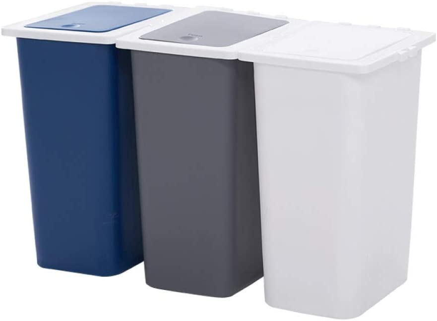 Rails Popular Triple Plastic Recyclable Bin 27L 9L Ranking TOP19 with Compartment Re 3