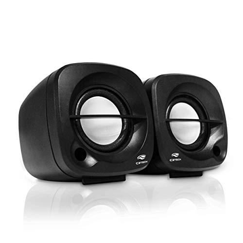 Caixa De Som Speaker 2.0 3w Sp-303bk Preta C3 Tech