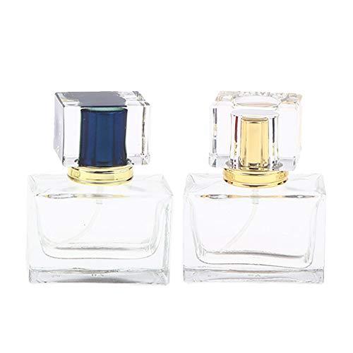 Milageto Lote de 2 frascos en espray para perfume de cristal, recipiente para líquidos, Home Office, Signore