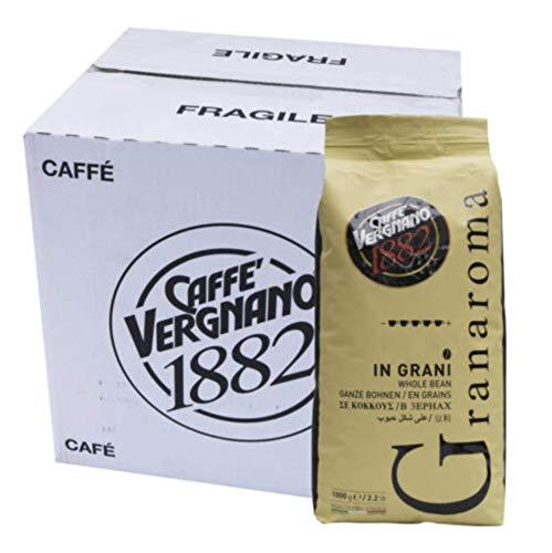 OFFERTA RISPARMIO - 6 sacchi da 1 Kg CAFFE' IN GRANI GRANAROMA Vergnano