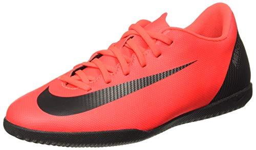 Nike Unisex-Erwachsene Vapor 12 Club Cr7 Ic Fußballschuhe, Mehrfarbig (Bright Crimson/Black-Chrome 0), 39 EU