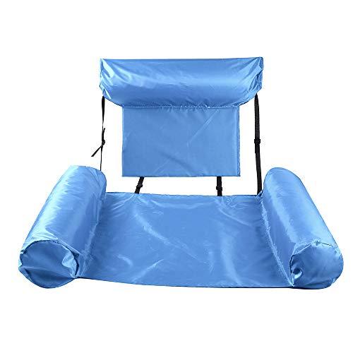Chnrong Hamaca de agua, cama flotante inflable de PVC, hamaca inflable fácil para adultos, silla de agua de cama flotante premium para océano, lago, río, piscina, mar de playa