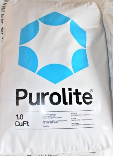 Purolite C100E Resin C-100E Cationic Replacement for Water Softener 1 CuFt Bag Media