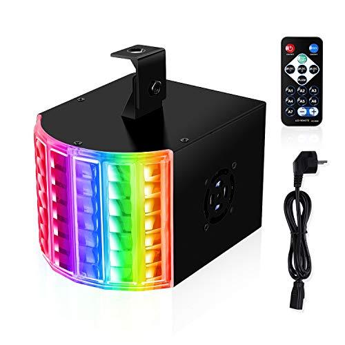 MVPower Bühnenbeleuchtung 3 Modus DJ Projektor DMX Controller Lichteffekte Partylicht mit Fernbedienung, 18W RGB Discolicht, 6 Farben, für Show Party Bar Disco Geburtstag Club