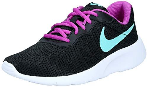 Nike Tanjun, Zapatillas de Atletismo para Niños, Multicolor (Black/Aurora Green/Hyper Violet 026), 37.5 EU