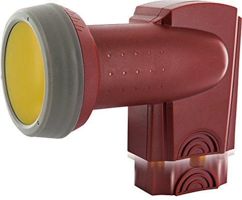 SCHWAIGER -357- Twin LNB mit Sun Protect, 2-Fach, digital (2 Teilnehmer), extrem hitzebeständige LNB Kappe, Einsatz mit Satellitenschüssel, multifeed-tauglich mit Wetterschutz, vergoldete Kontakte