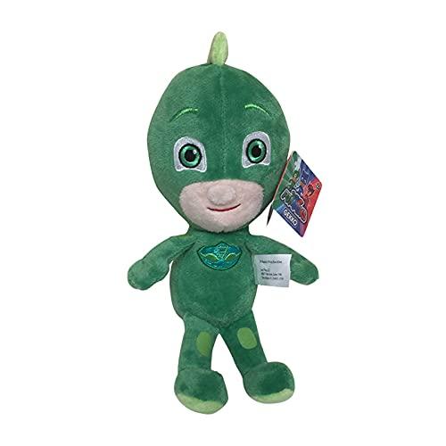 Mlaqwev 20cm / 7.8'Masked Man Gekko Green Plush Toy, Anime Cartoon Soft Plush Doll Room Decoration, Kawaii Soft Stuffed Animal Dolls Toy Regalos para niños