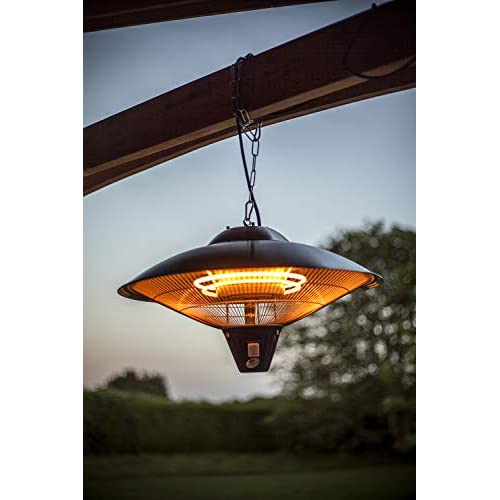 La Hacienda Silver Series Hanging Heater Halogen Large Electric