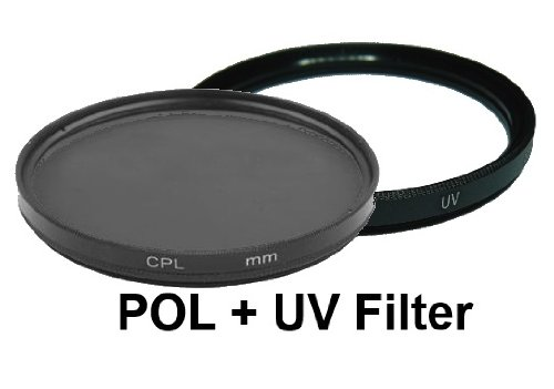 equipster UV-Filter + CPL Polfilter Filter-Set für Panasonic Lumix G 20mm f1.7 II Pancake (H-H020A)