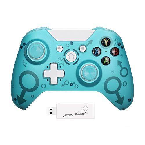 STZhing Xbox One Controller inalámbrico Gamepad-Adapter, 2,4 GHz Wireless-Verbindung, diseño ergonómico, kombliel mit Xbox One/One S/One X/P3 / Windows (azul)