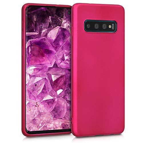 kwmobile Hülle kompatibel mit Samsung Galaxy S10 - Handy Hülle Metallic Pink